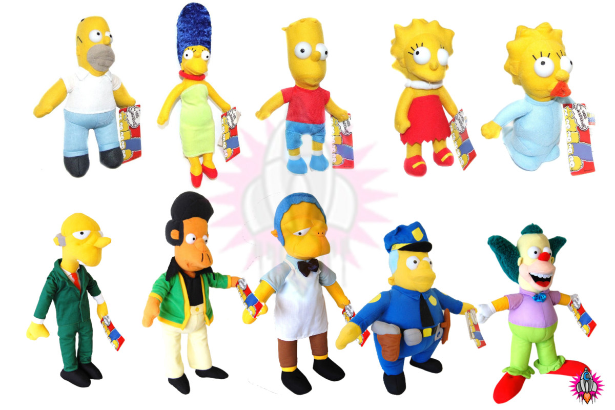 NEW THE SIMPSONS LARGE CARTOON CHARACTERS PLUSH SOFT TEDDYS TOYS TOY