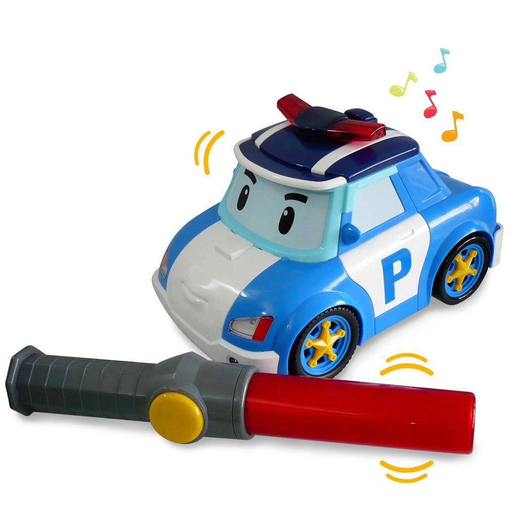 Radio Commande Voiture Robocar I/r Poli Le Heros: Jeux et