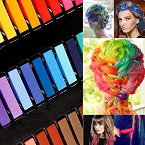 REELVA Kit de 36 Couleur Coloration Temporaire Cheveux Teinture Craies