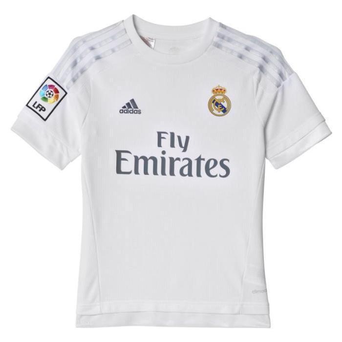 Maillot Domicile enfant officiel Real Madrid 2015/2016 Blanc Achat