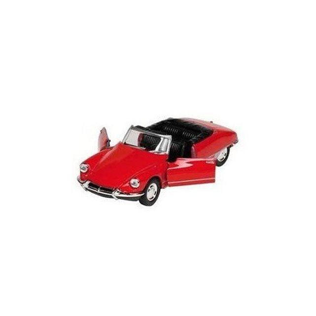 Voiture en métal Citroën DS 19 Cabriolet Rouge : Toit ouvert TOYS