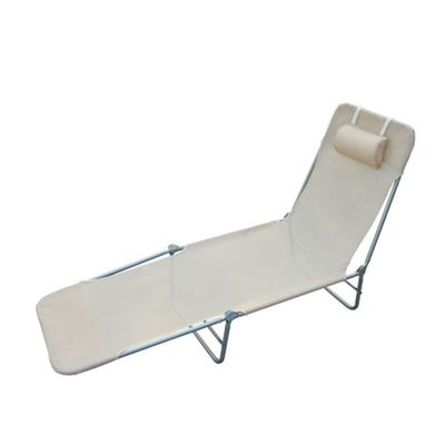 Chaise longue pliante crème homcom Homcom