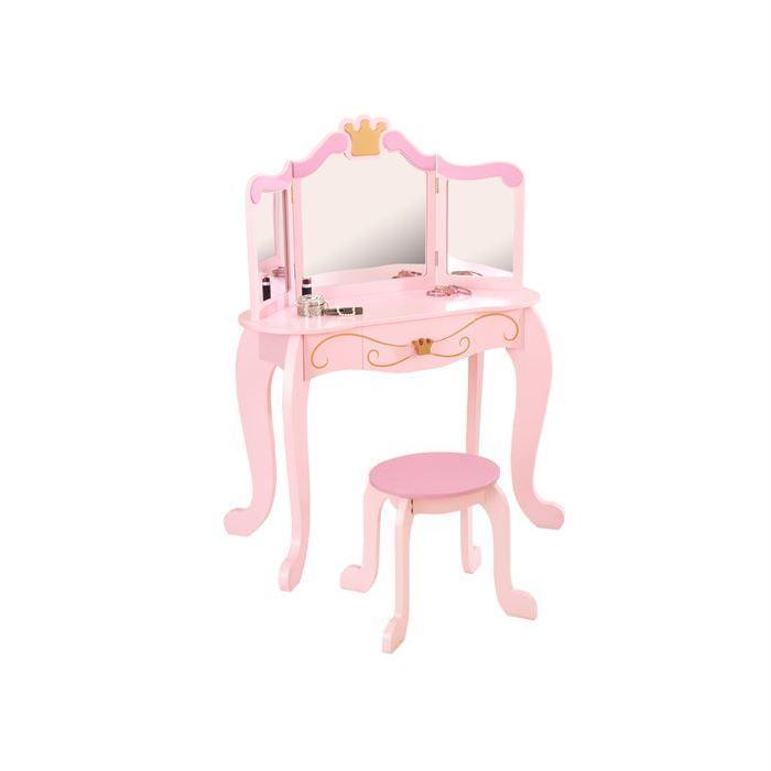 Set Coiffeuse Princesse en bois rose Achat / Vente coiffeuse