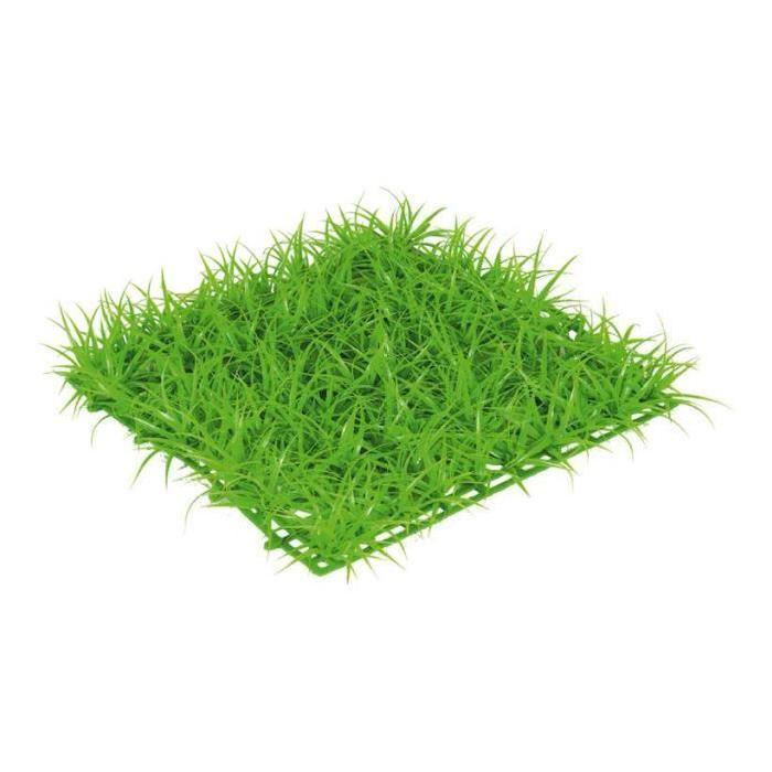Plaque de gazon verte plastique 26 x26cm hauteur 3cm Plaque de gazon