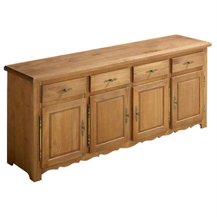 Achat / Vente buffet bahut Buffet bas 4 portes 4 tiroirs
