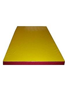 Tapis de gymnastique / matelas de sol de sport en mousse épais JAUNE