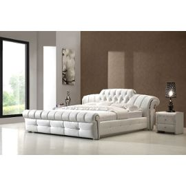 lit coffre 160 200 blanc topiwall. Black Bedroom Furniture Sets. Home Design Ideas