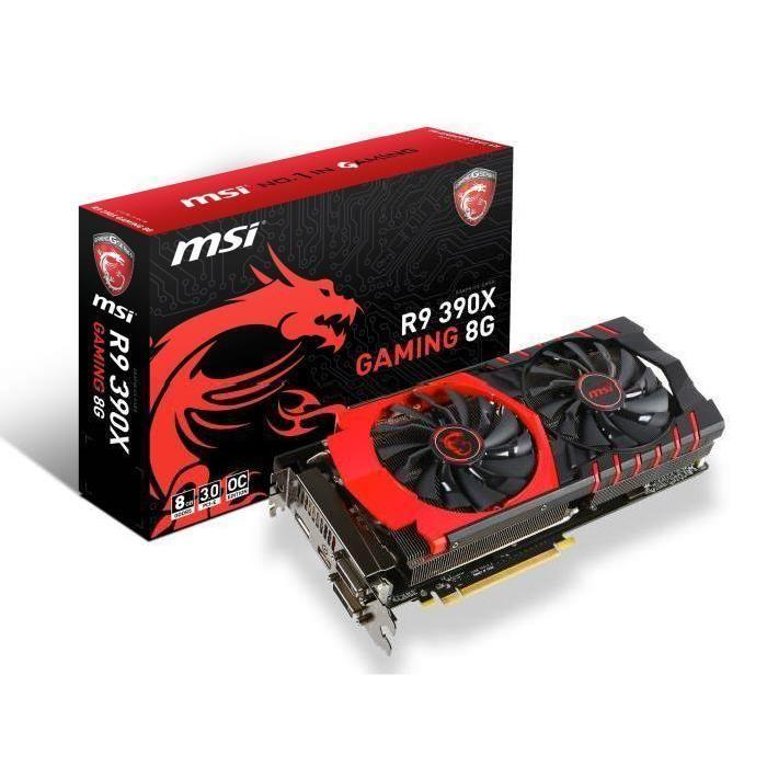 Destockage MSI carte graphique R9 390X Gaming 8Go DDR5 carte