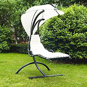 Hamac avec support sur pied longue chaise transat bain de soleil