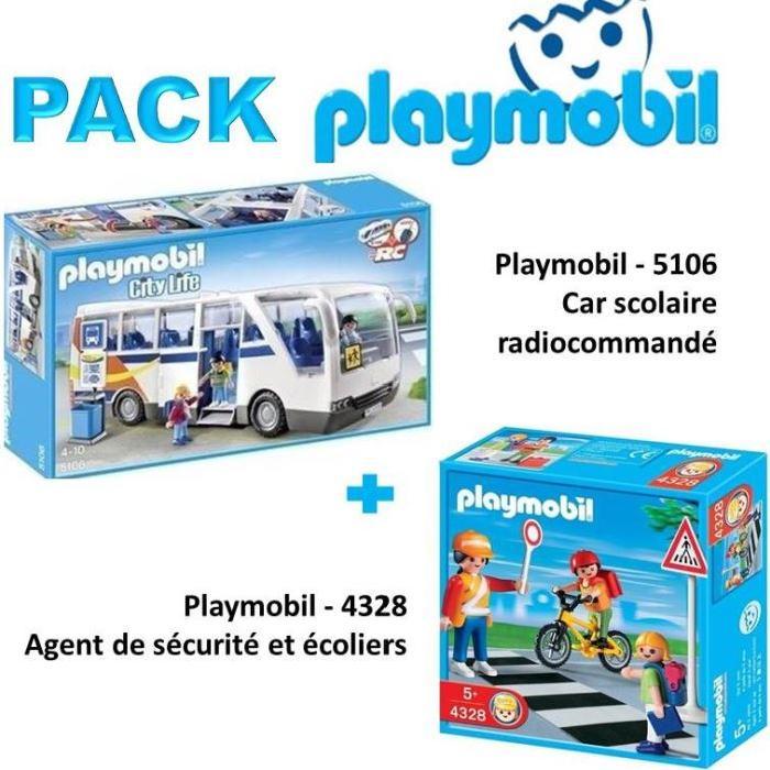 Playmobil Le pack contient 1 Playmobil 5106 Car scolaire