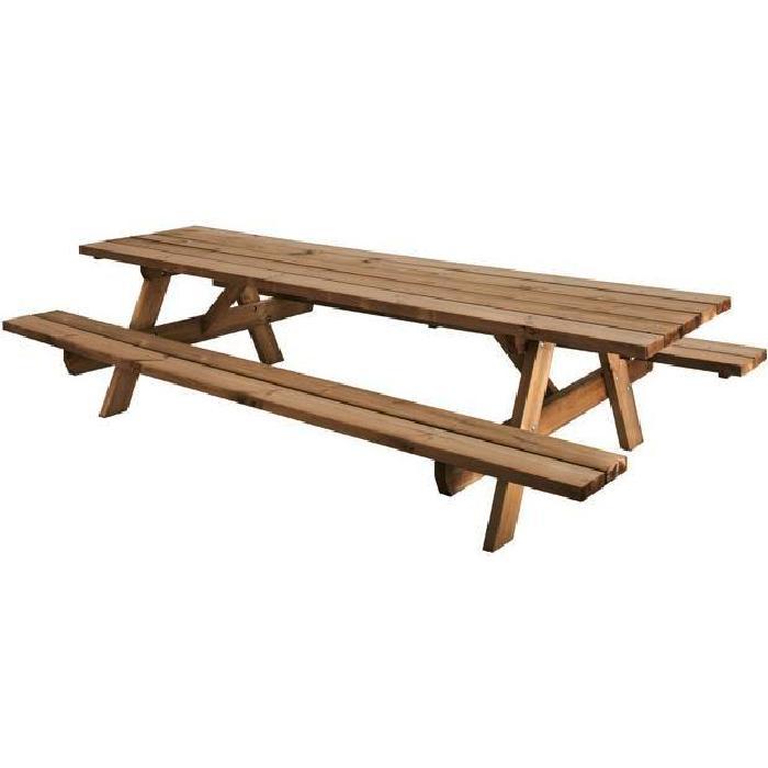nique en bois pour 10 personnes Achat / Vente table de jardin Table