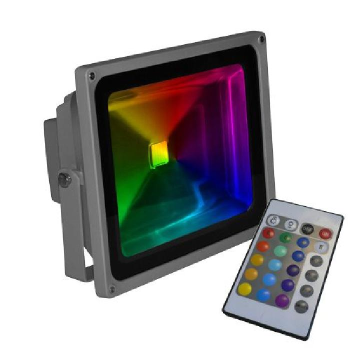 Projecteur led 30W RGB multicolore Achat / Vente projecteur