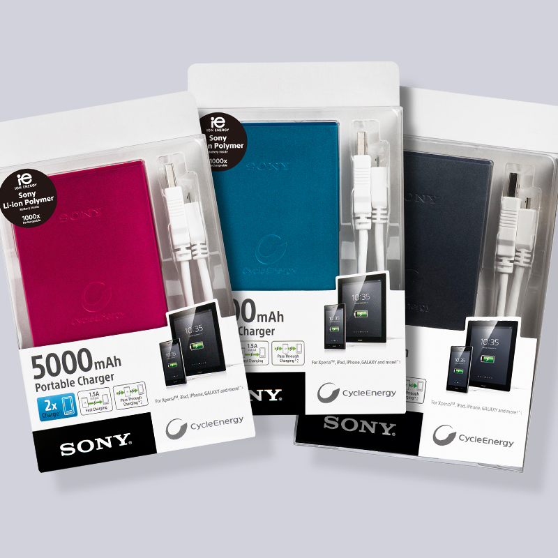 Sony CP F5B Chargeur nomade pour Smartphone 5000 mAh Noir