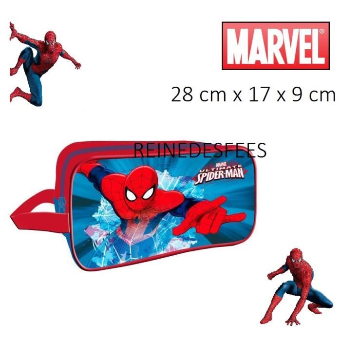 trousse de toilette enfants garçons Spiderman Héro Marvel L'homme