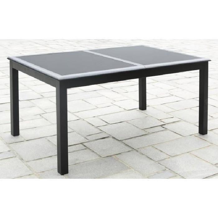 Table aluminium & verre à rallonge Achat / Vente salon de jardin