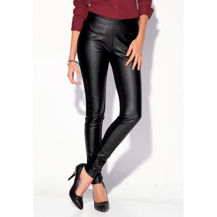 pantalon femme simili cuir noir pantalon enduit simili cuir noir femme slim stretc