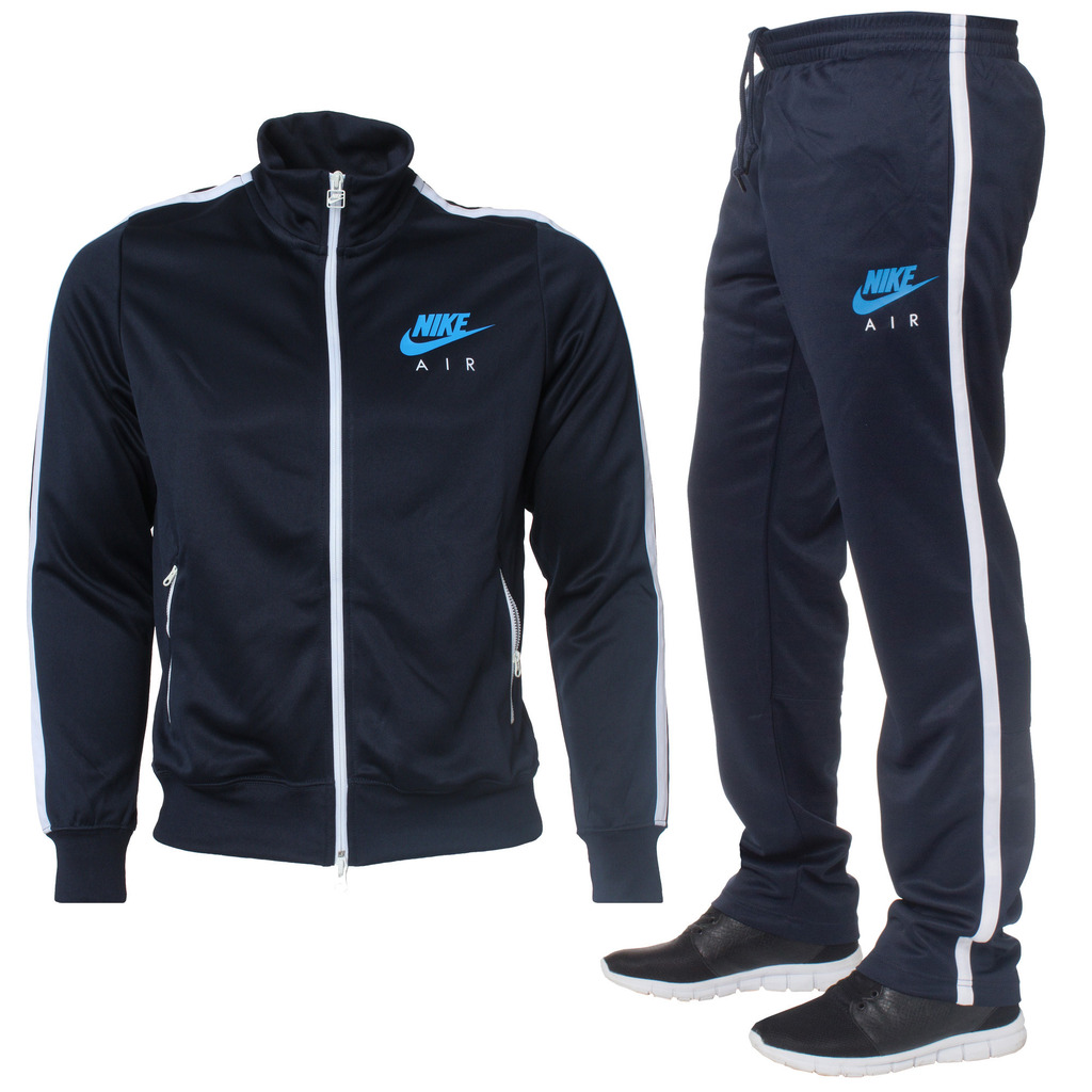 Nike Air Limitless Mens Navy Black Full Tracksuit Jacket Pants Zip Up