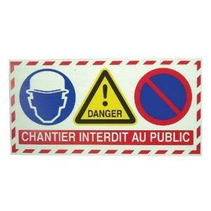 Panneau interdit au public Achat / Vente Panneau interdit au public