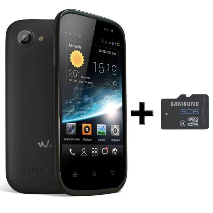SMARTPHONE WIKO CINK SLIM + Carte Samsung Micro SD 8 Go