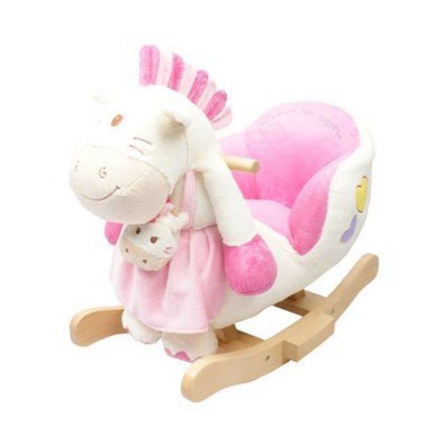 Solini le poney à bascule avec une fonction sonore bébé rose Solini