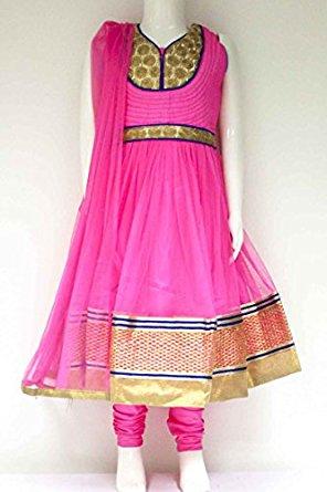 Rose et Churidar Costumes de Royal Blue Girl Indian Saree Bollywood