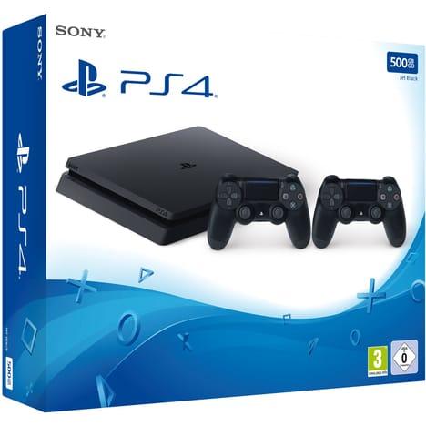 Console PS4 Slim 500 Go + 2 Manettes pas cher à prix