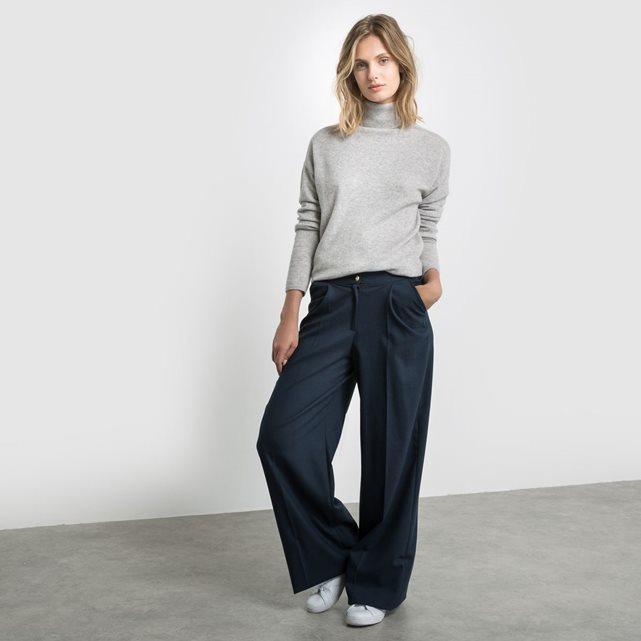 Pantalon extra large bleu marine R Studio