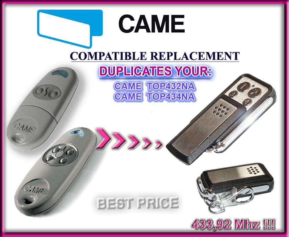 Came TOP432NA, Came TOP434NA Compatible Télécommande / Cloner 433