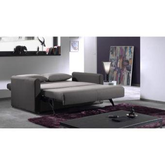 Envie De Meubles Canapé convertible Fast bicolore tissu gris et