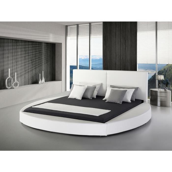 Ce somptueux lit rond en cuir est une parfaite combinaison d'ergonomie