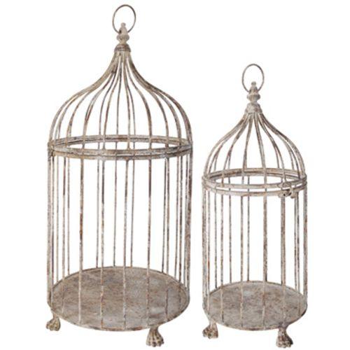 Esschert Design Cage à oiseaux décoratives en Métal patiné