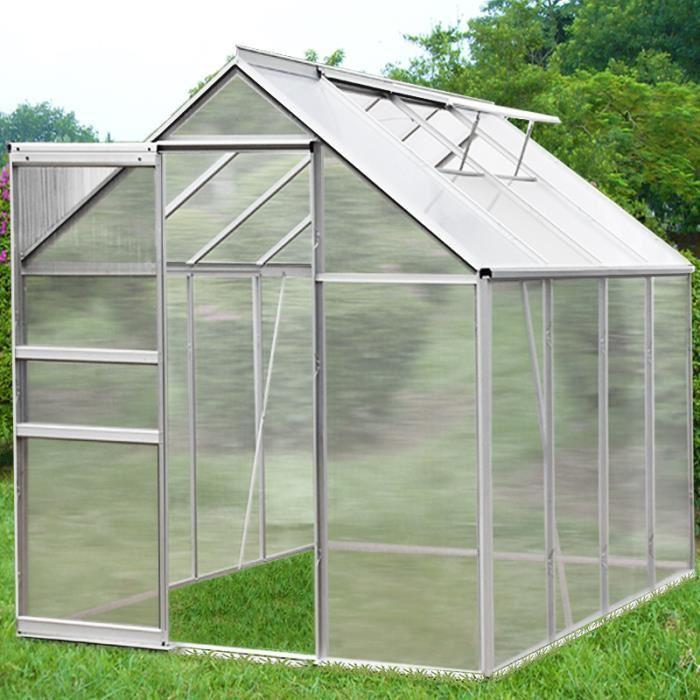 Serre de jardin abri 7,6 m³ 2 lucarnes Achat / Vente serre de