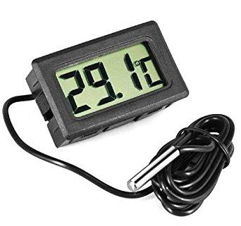 JECO Thermomètre digital encastrable avec sonde (Réfrigérateur