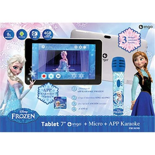 Tablette Tactile Reine des Neiges Ingo 7″ avec Micro Karaoké Ingo