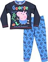 Ensemble de pyjama | Garçon George Peppa Pig Pyjamas| 18 Mois a 6 Ans