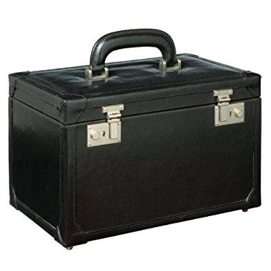 Maxwell Scott Vanity case en cuir noir (Bellino): Bagages