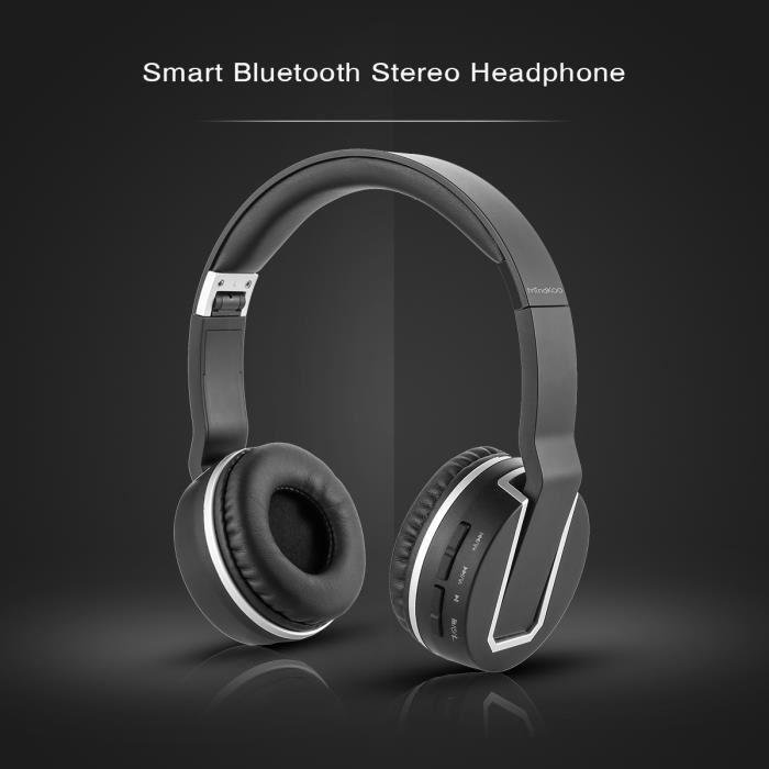 Casque Ecouteur Noir Audio Bluetooth V4.0 sans fils ou filaire style