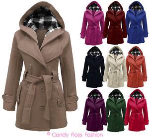 Manteau long a capuche femme grande taille