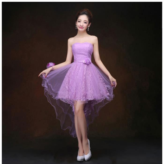 en dentelle robe pourpre de la robe de demoiselle d'honneur de mariée
