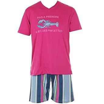 Arthur Pyjama pyjama court S Rose Homme: Vêtements