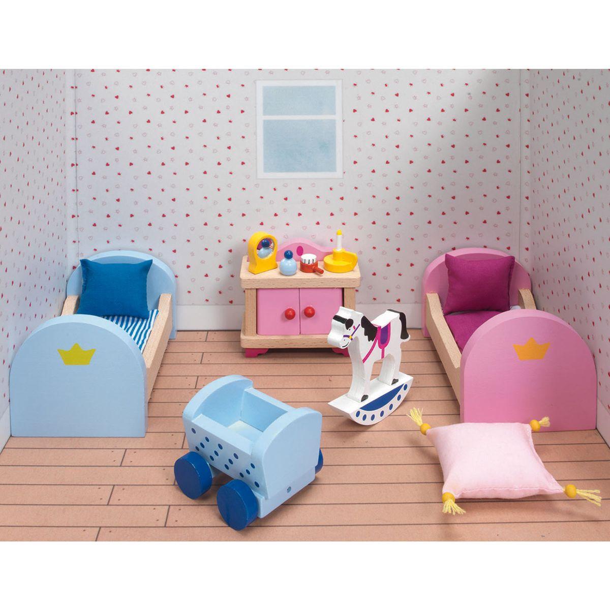 Maison de Poupées : Mobilier pour Château rose Goki : Chambre d