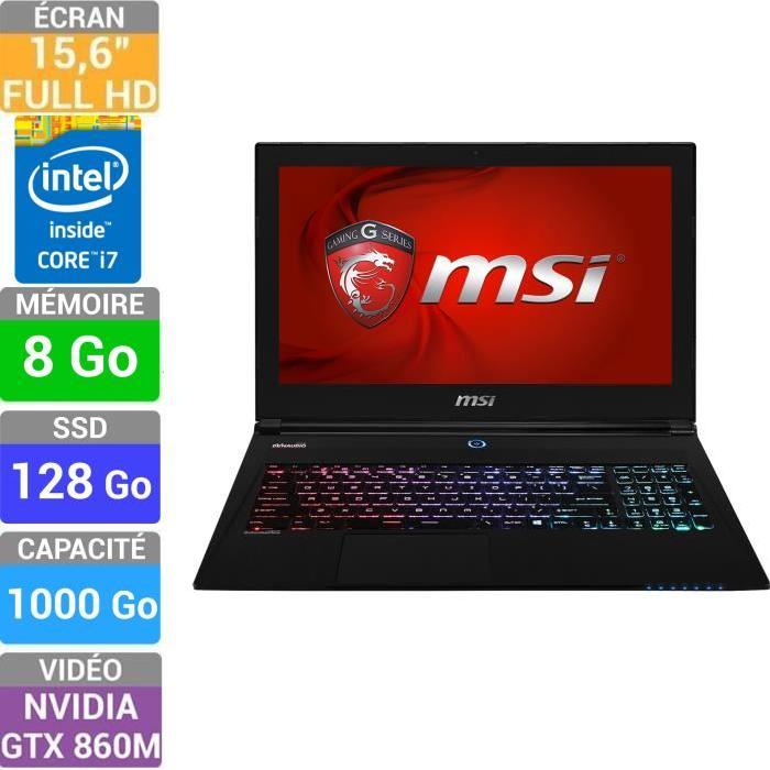 MSI Portable Gamer GS60 2PC 028XFR Achat / Vente ordinateur portable
