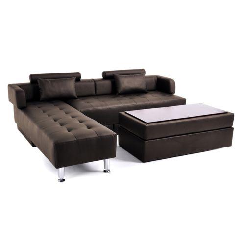 canape angle reversible avec pouf coffre table basse marron state