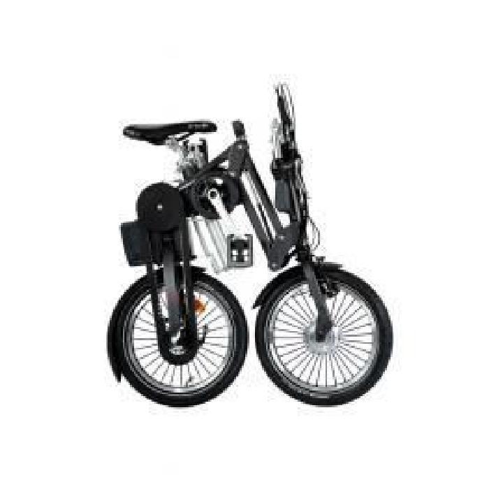 Vélo Pliant électrique 3 vitesses 11Ah Gris Idéal pour une