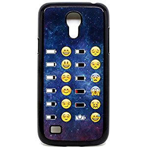 Samsung Galaxy S4 Mini Coque batterie Emoji Face Motif Space Motif