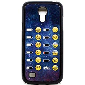 Samsung Galaxy S4 Mini Coque batterie Emoji Face Motif Space Motif